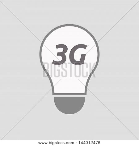 Isolated Line Art Light Bulb Icon With    The Text 3G