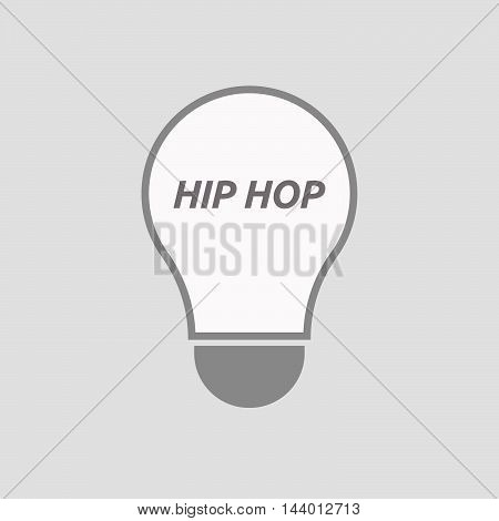 Isolated Line Art Light Bulb Icon With    The Text Hip Hop