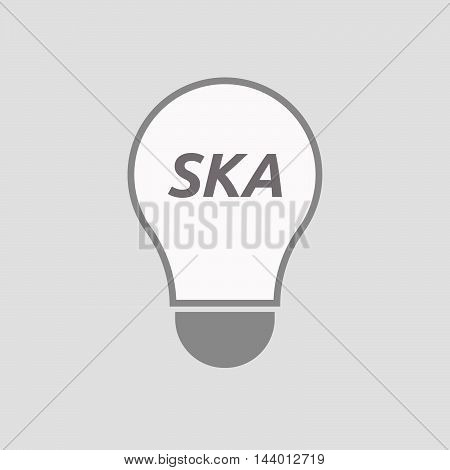 Isolated Line Art Light Bulb Icon With    The Text Ska