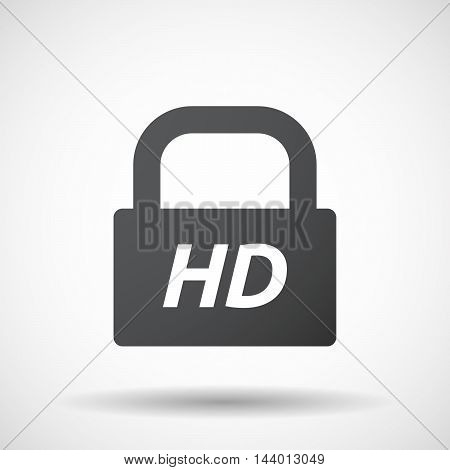 Isolated Closed Lock Pad Icon With    The Text Hd