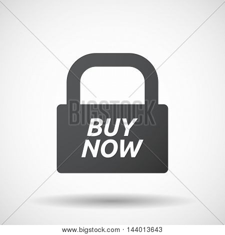 Isolated Closed Lock Pad Icon With    The Text Buy Now