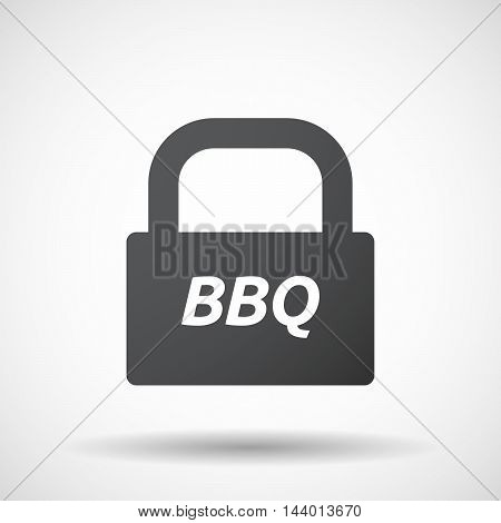 Isolated Closed Lock Pad Icon With    The Text Bbq