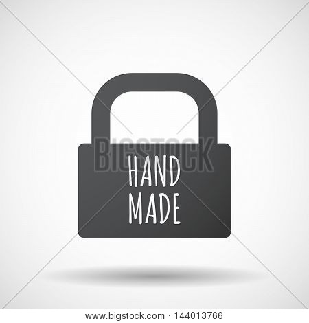 Isolated Closed Lock Pad Icon With    The Text Hand Made