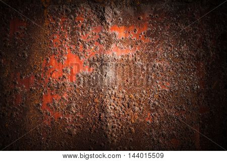 Old Rusted Iron Wall, Industrial Background Texture