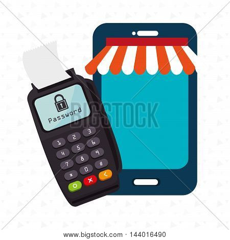 dataphone password money secure vector illustration eps 10