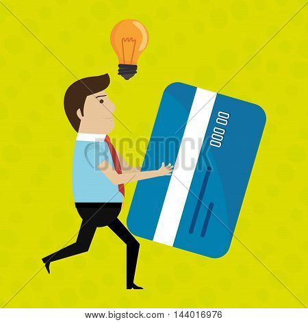 man credit card idea vector illustration eps 10
