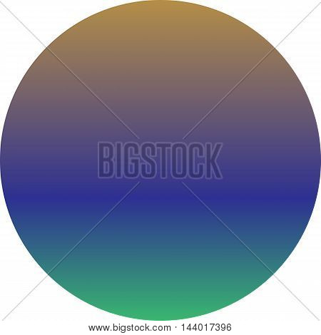 Colorful vector planet. Abstract gradient background. Round pattern.