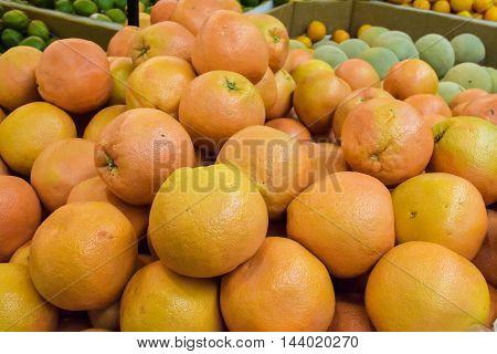 Ripe Grapefruit Background
