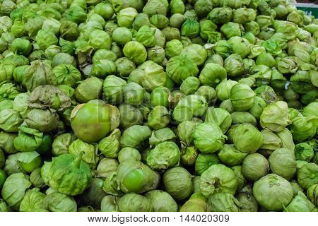 Organic Tomatillo Background
