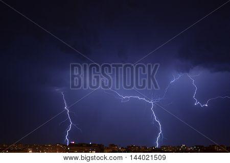 lightning, flash, rain, thunderstorm,night,beatiful,nature,sky, flash at night