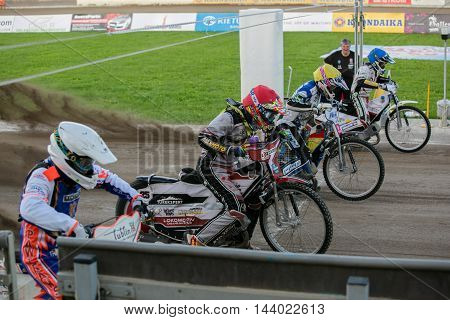Speedway Riders On The Start