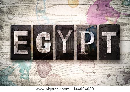 Egypt Concept Metal Letterpress Type