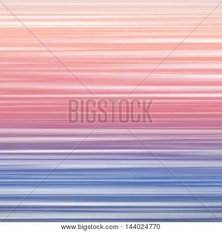 Abstract wavy striped background with lines. Colorful pattern with gradient blue and pink glitch texture. Vector illustration of digital image data distortion.