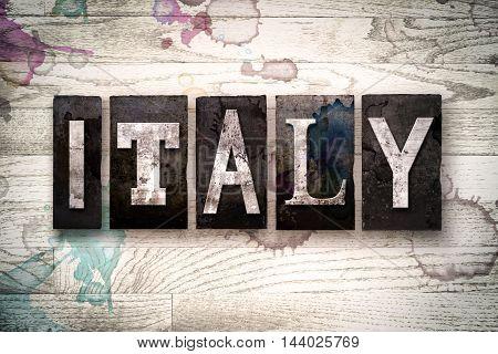 Italy Concept Metal Letterpress Type