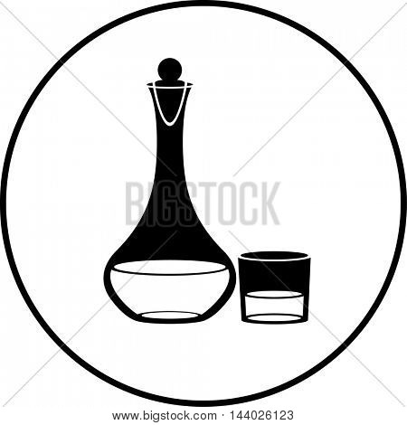 wine decanter with stopper and glass symbol