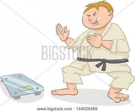Man On Diet Cartoon