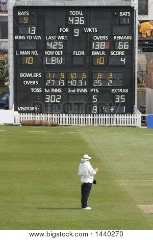 Cricket Umpire And Scoreboard