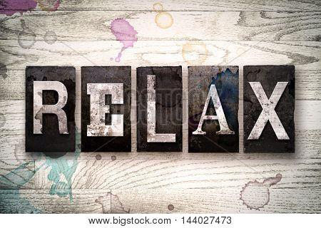Relax Concept Metal Letterpress Type