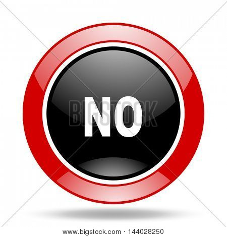 no round glossy red and black web icon