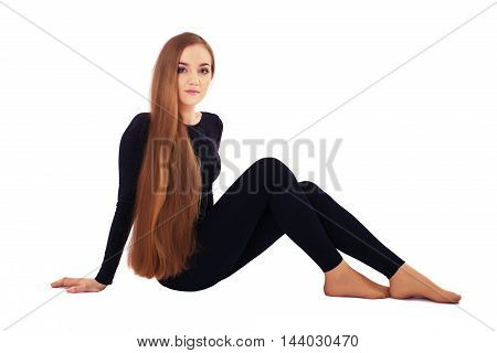 young girl with long hair. The concept of beauty and fashion