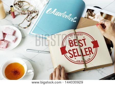 Best Seller Certificate Stamp Concept