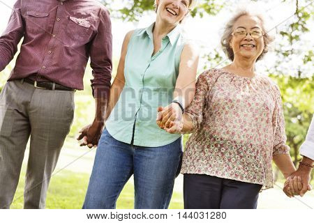 Diversity Friendship Older Elderly Pensioner Concept
