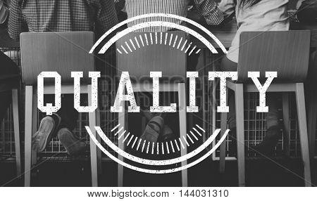 Original Premium Excellence Quality Label Concept