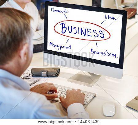 Business Brainstorm Planning Work Ideas Concept