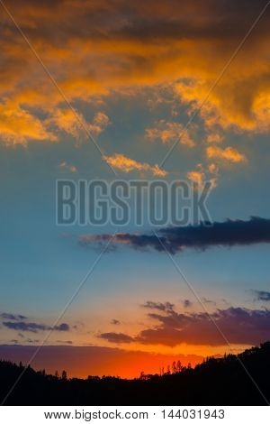 Sunset Background Vertical Composition