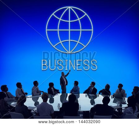 Global Business Enterprise Economics Corporation Concept