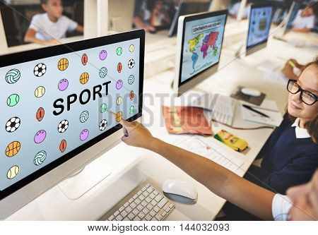 Sports Letters Balls Graphic Concept