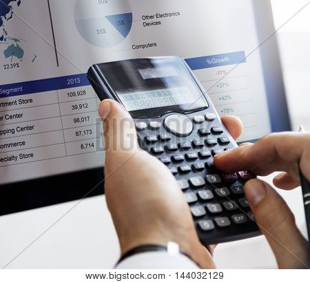 Calculate Balance Financial Accounting profit Debt Concept
