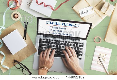 New Startup Business Opportunities Ideas Concept