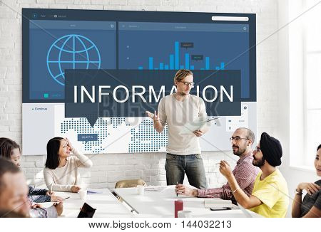 Information Data Details Facts Research Graphic Concept