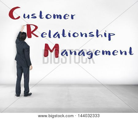 Business Customer Relationship Management Concept