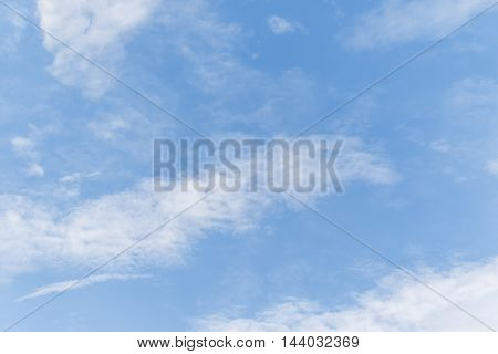 Beautiful blue sky with cloud for background