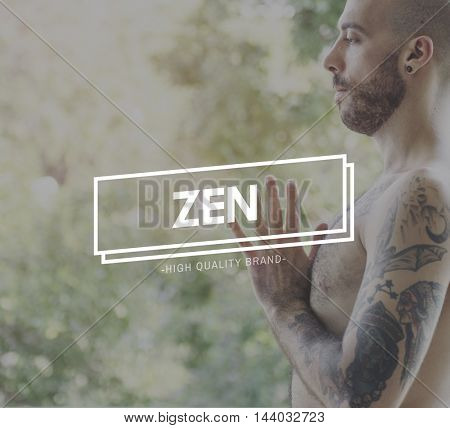 Zen Balance Health Live Life State Mindful Breath Concept