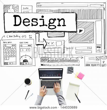 Design Create Creative Imagination Ideas Concept