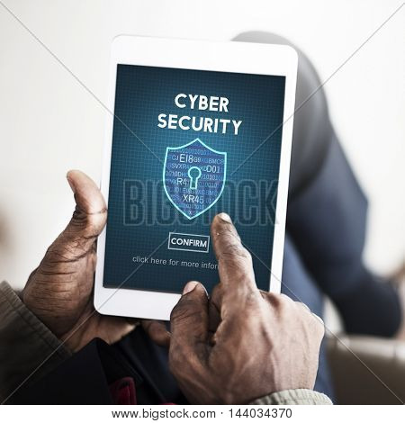 Cyber Security Privacy Protection Private Concept