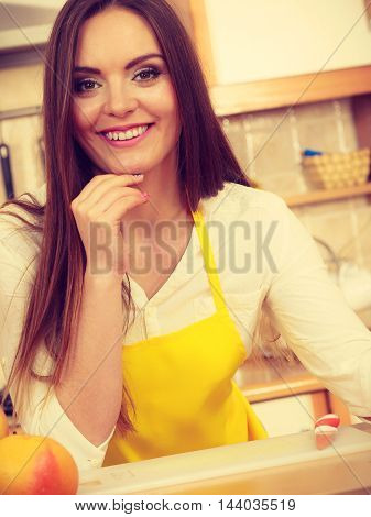 Girl In Kitchen.