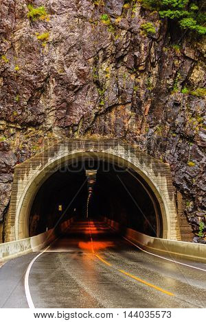 Tunnel On The Norwegian Mountain Road