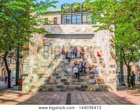Sandro Pertini Monument In Milan (hdr)