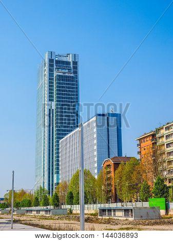 Intesa San Paolo Skyscraper In Turin (hdr)