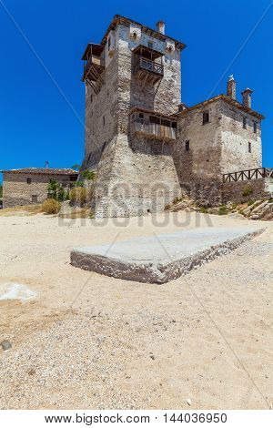 Phospfori Tower In Ouranopolis, Mount Athos