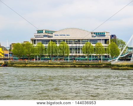 Royal Festival Hall In London (hdr)