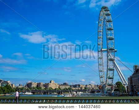 London Eye In London (hdr)