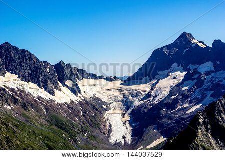 mountain tops, snow, glacier, natural landscape, rocks