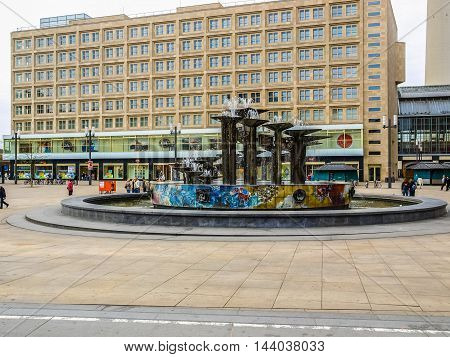 People In Alexander Platz (hdr)