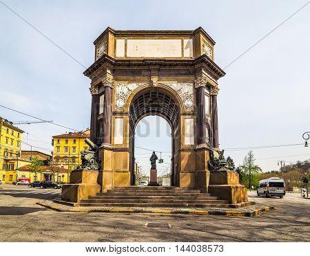Arco Del Valentino Arch In Turin (hdr)