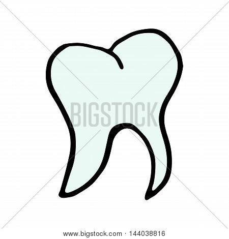 tooth Icon icon isolated on white background in style hand draw